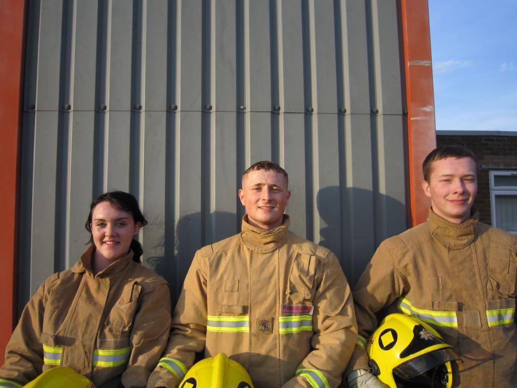 Declan with other retained firefighters