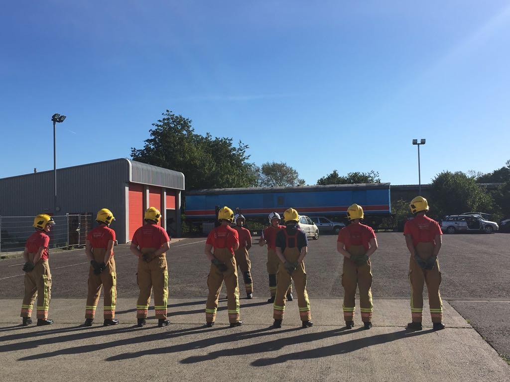 Recruits at training school