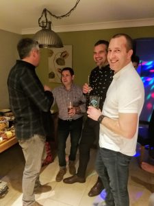 Paul enjoying a NYE party at his house (off duty!!!) with some of the Stratton crew
